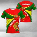 Customize Portugal Round Coat Of Arms All Over Print T-shirt