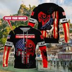 Customize Albanian American All Over Print Hoodies