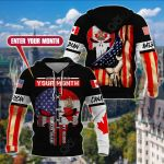 Customize Canadian American All Over Print Hoodies