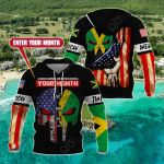 Customize Jamaican American All Over Print Hoodies