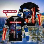Customize Salvadorian American All Over Print Hoodies