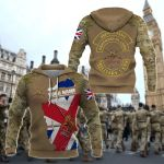 Customize British Army Camo All Over Print Hoodies