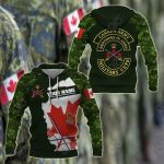 Customize Canada Army Camo All Over Print Hoodies