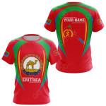 Customize Eritrea Map & Coat Of Arms All Over Print T-shirt