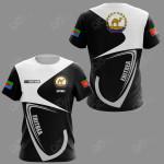 Customize Eritrea Coat Of Arms & Flag All Over Print T-shirt