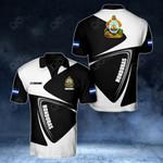 Customize Honduras Coat Of Arms - Flag V2 All Over Print Polo Shirt