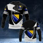 Customize Bosnia And Herzegovina Coat Of Arms - Flag V2 All Over Print Hoodies