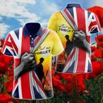 British Veteran Lest We For Get Poppy Sunset All Over Print Polo Shirt