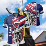 Hawaii Kanaka Flag Nation Quarter Style White All Over Print Polo Shirt