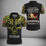 British Army Lest We Forget Over Print Polo Shirt