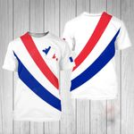 France Simple Style All Over Print T-shirt