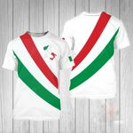 Italy Simple Style All Over Print T-shirt