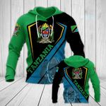 Tanzania Coat Of Arms Version All Over Print Hoodies