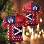 Scotland Christmas Flag All Over Print Polo Shirt