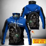 Customize El Salvador Coat Of Arms - Reaper All Over Print Neck Gaiter Hoodie