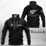 Customize New Zealand ANZAC Day Lest We Forget All Over Print Neck Gaiter Hoodie