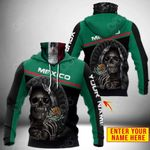 Customize Mexico Coat Of Arms - Reaper All Over Print Neck Gaiter Hoodie