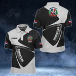 Customize Dominican Republic Coat Of Arms - Flag V2 All Over Print Polo Shirt