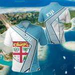 Fiji - Polynesian Coconut Tree All Over Print Polo Shirt