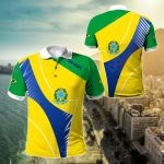 Brasil New All Over Print Polo Shirt