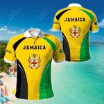 Jamaica Coat Of Arms Style All Over Print Polo Shirt