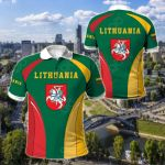 Lithuania Coat Of Arms Style All Over Print Polo Shirt