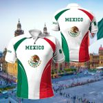 Mexico Coat Of Arms Style All Over Print Polo Shirt