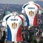Serbia Coat Of Arms Style All Over Print Polo Shirt