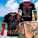 America -  Portugal I'm Portuguese Guy All Over Print Shirts
