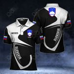 Customize Slovenia Coat Of Arms & Flag All Over Print Polo Shirt