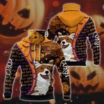 Corgi Halloween All Over Print Neck Gaiter Hoodie