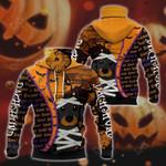 Dachshund Halloween All Over Print Neck Gaiter Hoodie