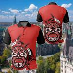 Canada Haida All Over Print Polo Shirt