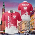 Poland Smudge Style All Over Print Polo Shirt