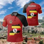 Uganda Map All Over Print Polo Shirt