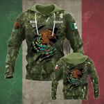 Custom (Mexico) Coat Of Arms Camo Over Print Hoodies