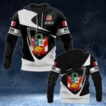 Customize Peru Coat Of Arms - Flag V2 All Over Print Hoodies