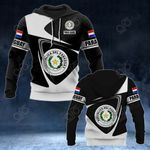 Customize Paraguay Coat Of Arms - Flag V2 All Over Print Hoodies