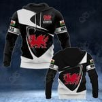 Customize Wales Coat Of Arms - Flag V2 All Over Print Hoodies