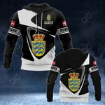 Customize Denmark Coat Of Arms - Flag V2 All Over Print Hoodies