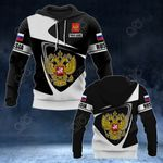 Customize Russia Coat Of Arms - Flag V2 All Over Print Hoodies
