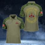 Customize Canadian Army All Over Print Polo Shirt