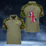 Customize United Kingdom Coat Of Arms Map - Camo Style All Over Print Polo Shirt