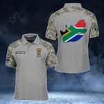 Customize South Africa Coat Of Arms Map - Camo Style All Over Print Polo Shirt