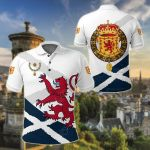 Scotland Order Of The Thistle Rampant Lion All Over Print Polo Shirt