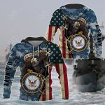US Navy Eagle All Over Print Hoodies