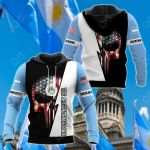 Argentinian Skull US All Over Print Hoodies