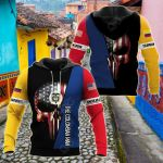 Colombian Skull US All Over Print Hoodies