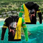 Jamaican Skull US All Over Print Hoodies