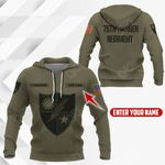 Customize 75th Ranger Regiment Symbol All Over Print Hoodies